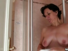 wife going wild when finds him fucking her mama