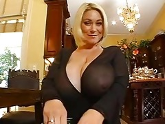 enormous chested blond momma doing a pov oral