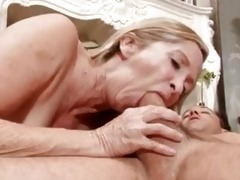 sex hungry granny copulates man