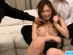 nasty mother i yui azusa body screwed by lads