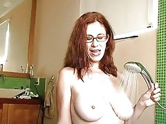 naughty redhead mother i with glasses acquires