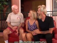 blond swinger copulates total stranger as hubby