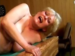 wicked blond mature wife receives her cum-hole