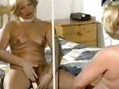 hairy aged slow tease and vibrator play