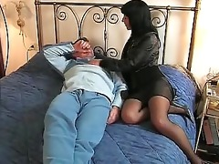 brunette hair italian wife goes to he is