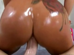 sexy brunette hair with biggest pierced bumpers