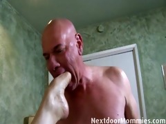 hairless lad bonks large breasted redhead