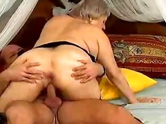 insane old mama receives jizz flow sex
