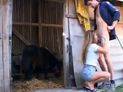 granny anal at the farm.