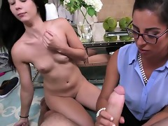 stepmom teaches daughters bf to fuck