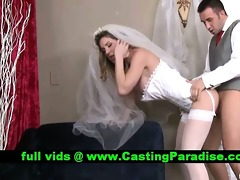 kayla paige breathtaking bride drilled realy hard