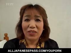 lewd aged kiriko nakamoto enjoys filling her wet