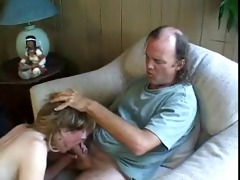 aged blonde receives anal