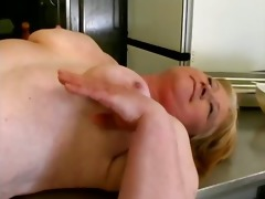naughty old woman receives her wet love tunnel