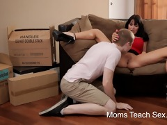 slutty mamma gives hands-on sex lessons