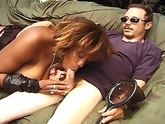 breasty dark momma milking biggest white jock