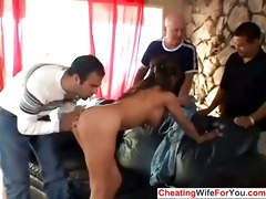 latin chick wife receive a facial