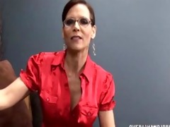 wicked milf with glasses jerking