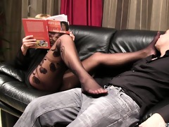 grace stockinged foot smelling video