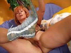 older redhead bangs her loose fur pie