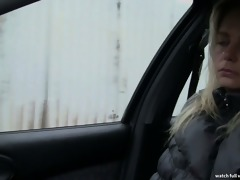 whore stop - blond czech mother i screwed in car