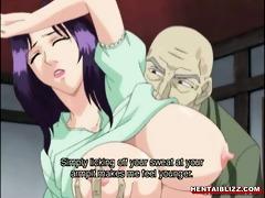 japanese manga mama with giant jugs receives