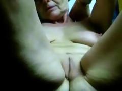 masturbating lewd granny till she is cums