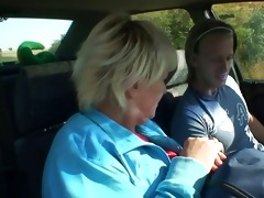 car driver bangs old wench