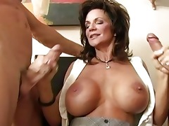 breasty brunette hair mother i team-fucked by hug