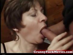 granny engulfing and pounding curly vagina