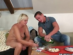 wife catches him fucking her old mama