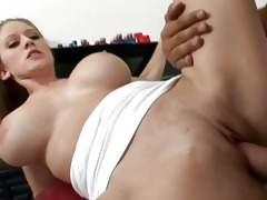 breasty blond mother i doxy doing oral-job and