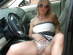 breathtaking blond mother i in hose shows her