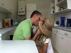 wife receives screwed in the kitchen