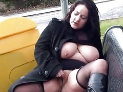 corpulent wifes public masturbation and breasty