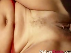divorcee receives nailed in red nylon