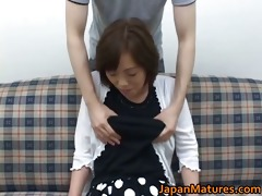 older nihonjin woman getting