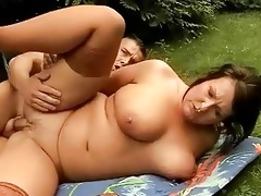 breasty obese grandma has sex with young dude