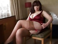 large milk shakes older panty play and striptease