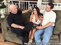 breasty cheating wife striptease