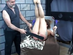 hard spanking for hawt young darksome brown perky