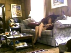 hidden livecam caught wife toying herself