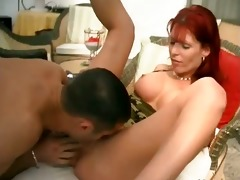 amazing red head mother i bonks with trio