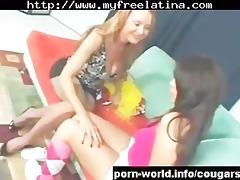 cougar seduces cute young latin chick lalin girl