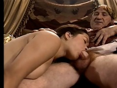 oriental youthful girl casting made by mature