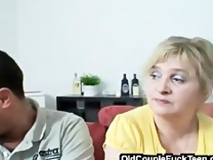 aged pair seduces newlyweds