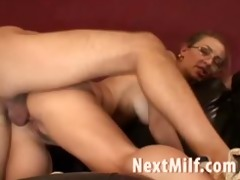 lengthy haired mother i riding new hard knob