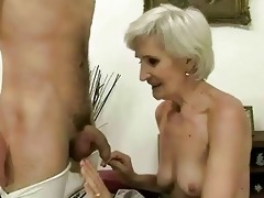 hawt granny enjoys sex with a guy