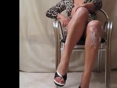 wife hot open legs with upskirt