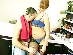 russian mature getting drilled by youthful lad